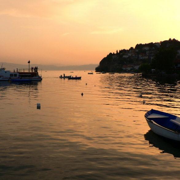 lac d'Ohrid, Albanie - Macédoine